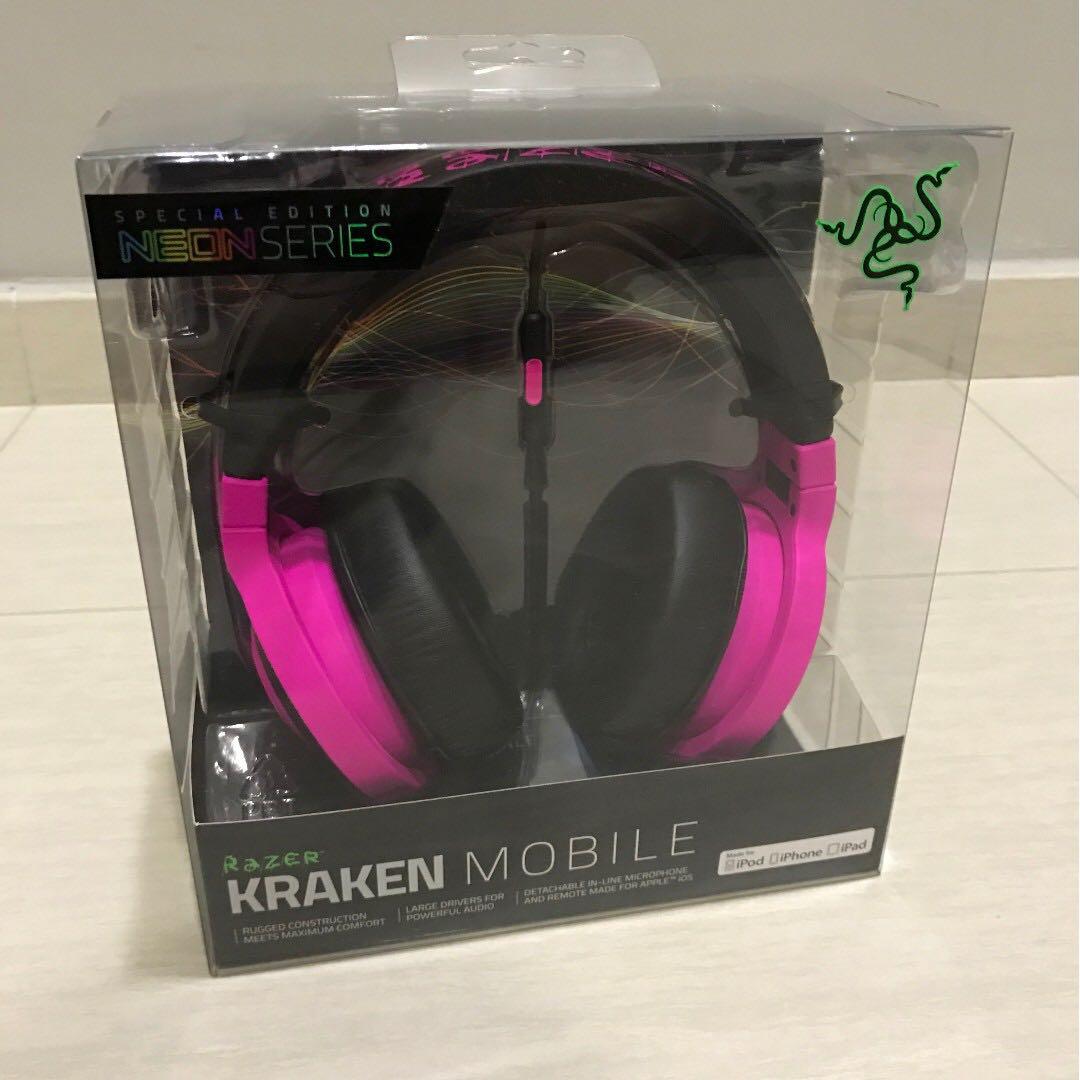 9dc68234dc1 Free Delivery Brand New Razer Kraken Mobile Analog Music & Gaming Headset  Neon Purple, Electronics, Audio on Carousell