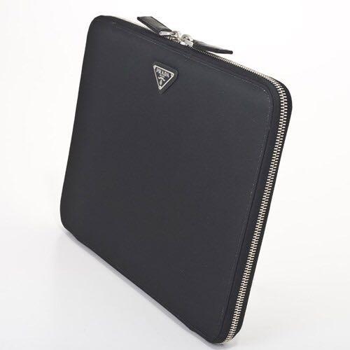 ab3585d76686 Genuine Prada Black Saffiano Leather iPad Air Case