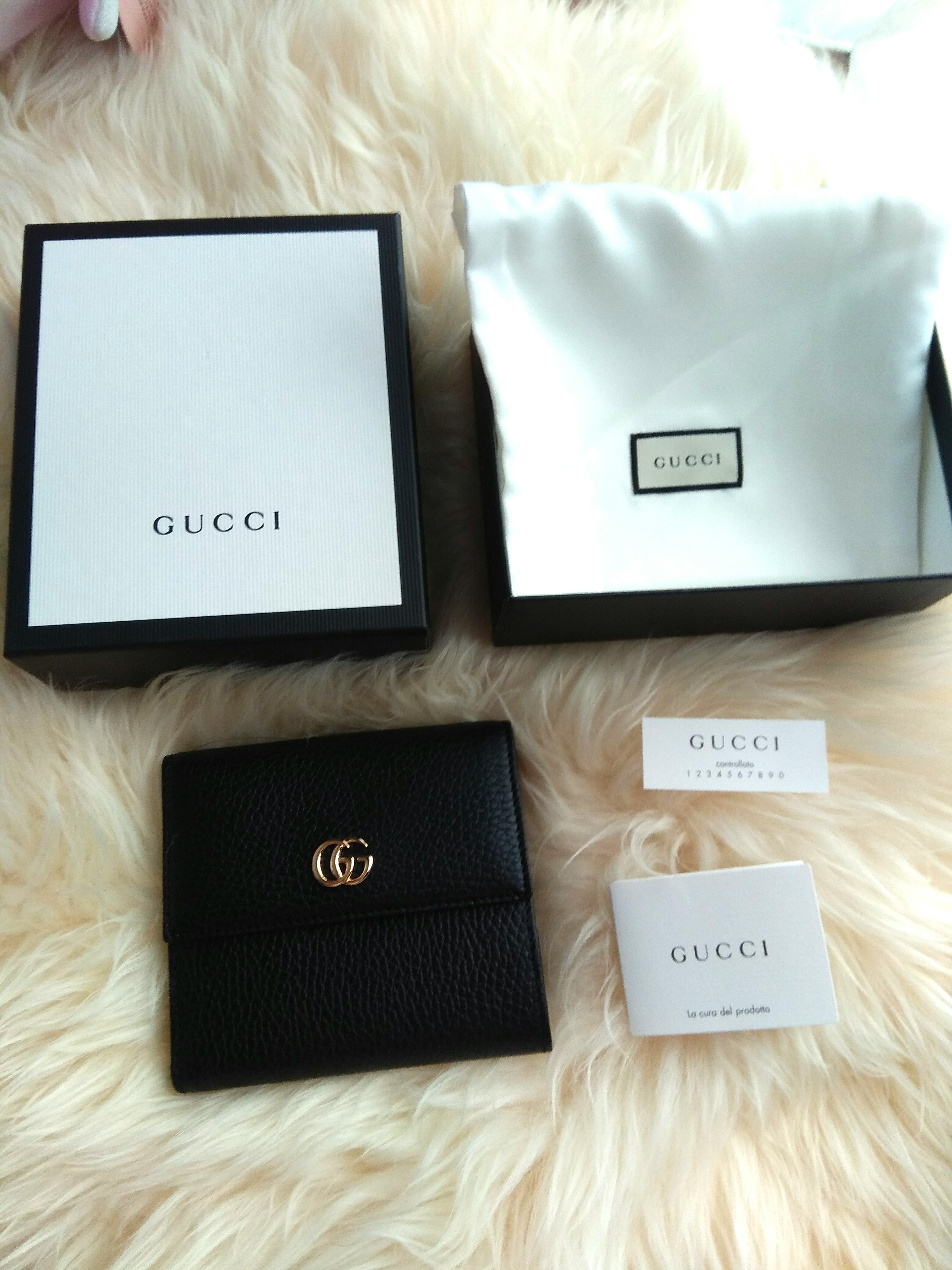 f3d1c652c613 Gucci leather french flap wallet, Luxury, Bags & Wallets, Wallets on  Carousell