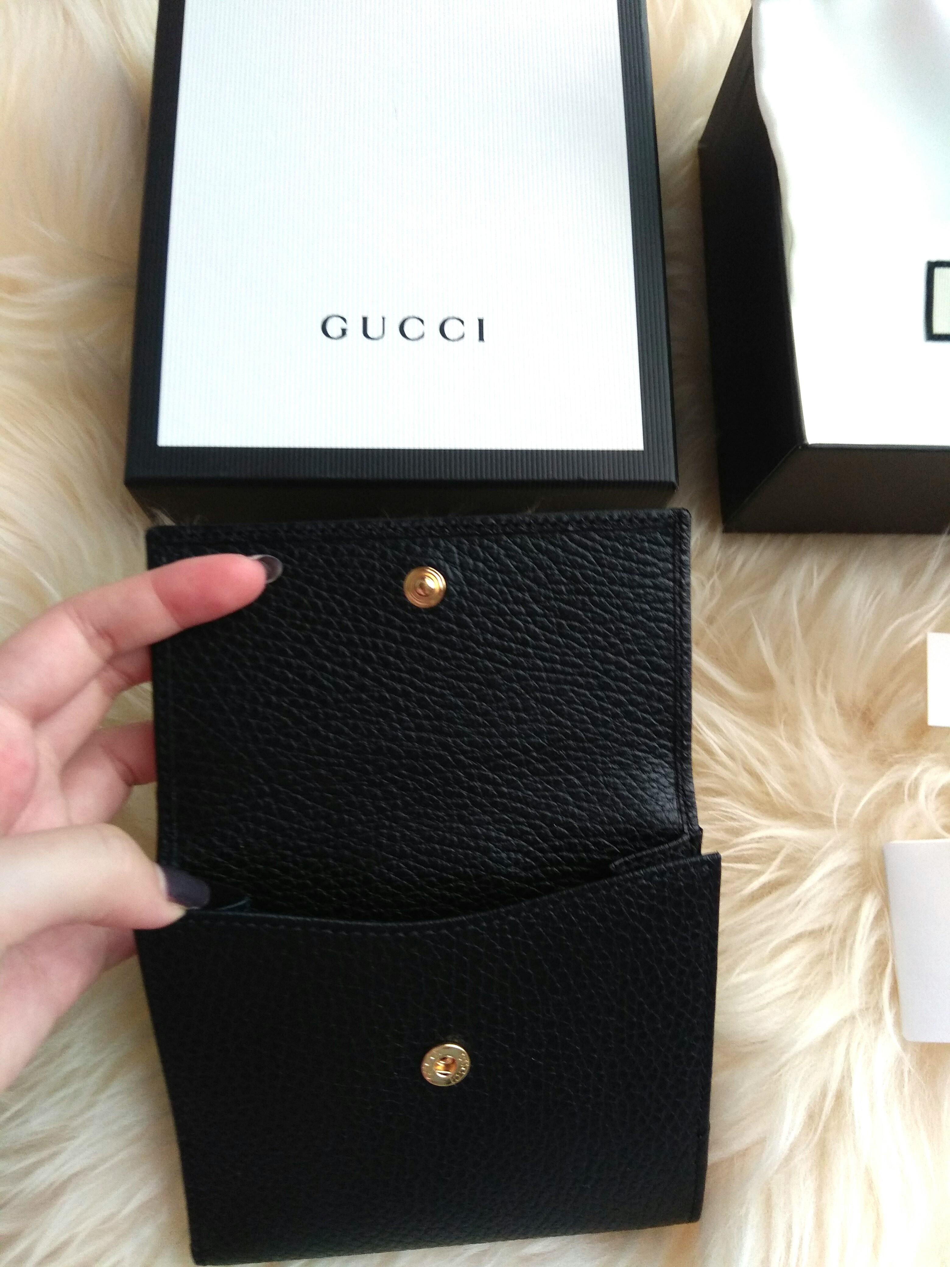 bafa1b516fb Gucci leather french flap wallet