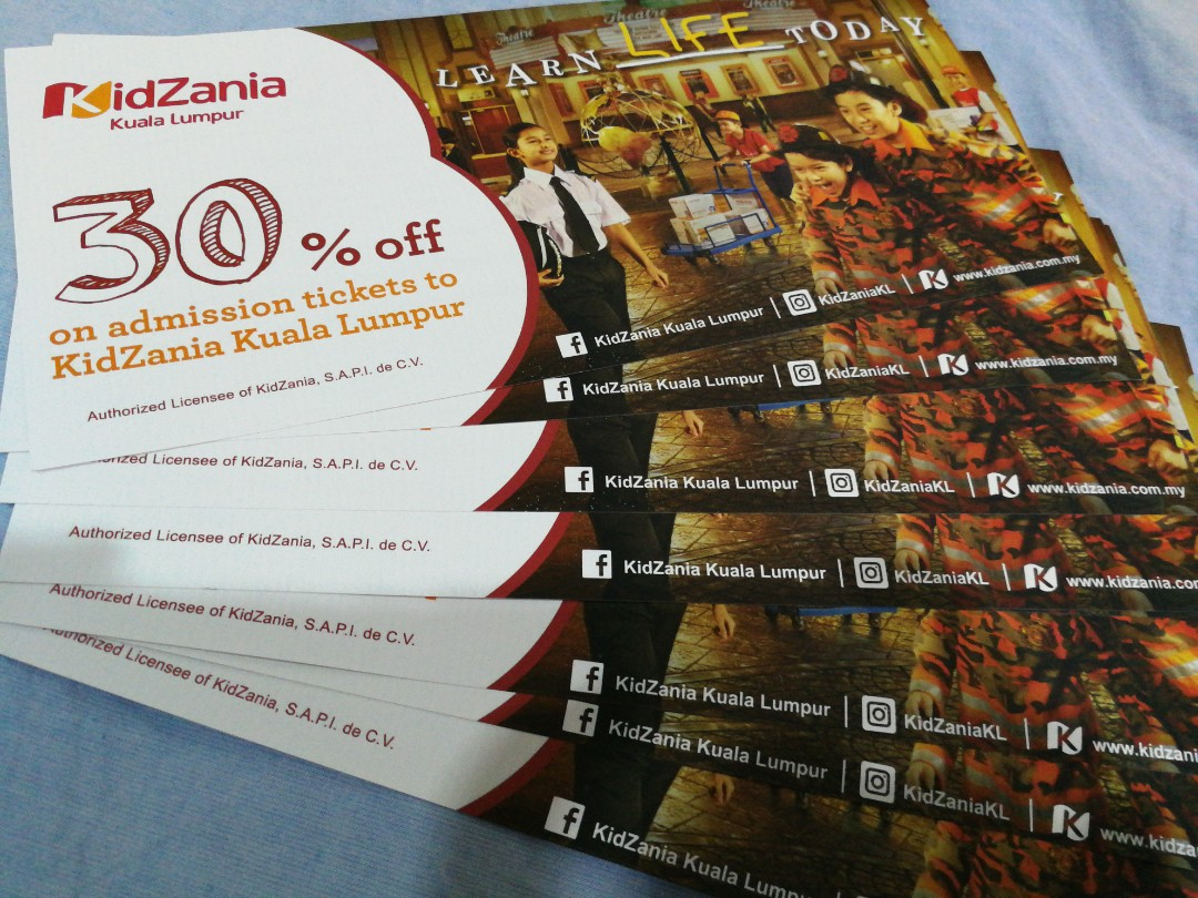 Kidzania Kl Entrance Tickets Vouchers Attractions Tiket Weekend  Toddler 2 3 Th On Carousell