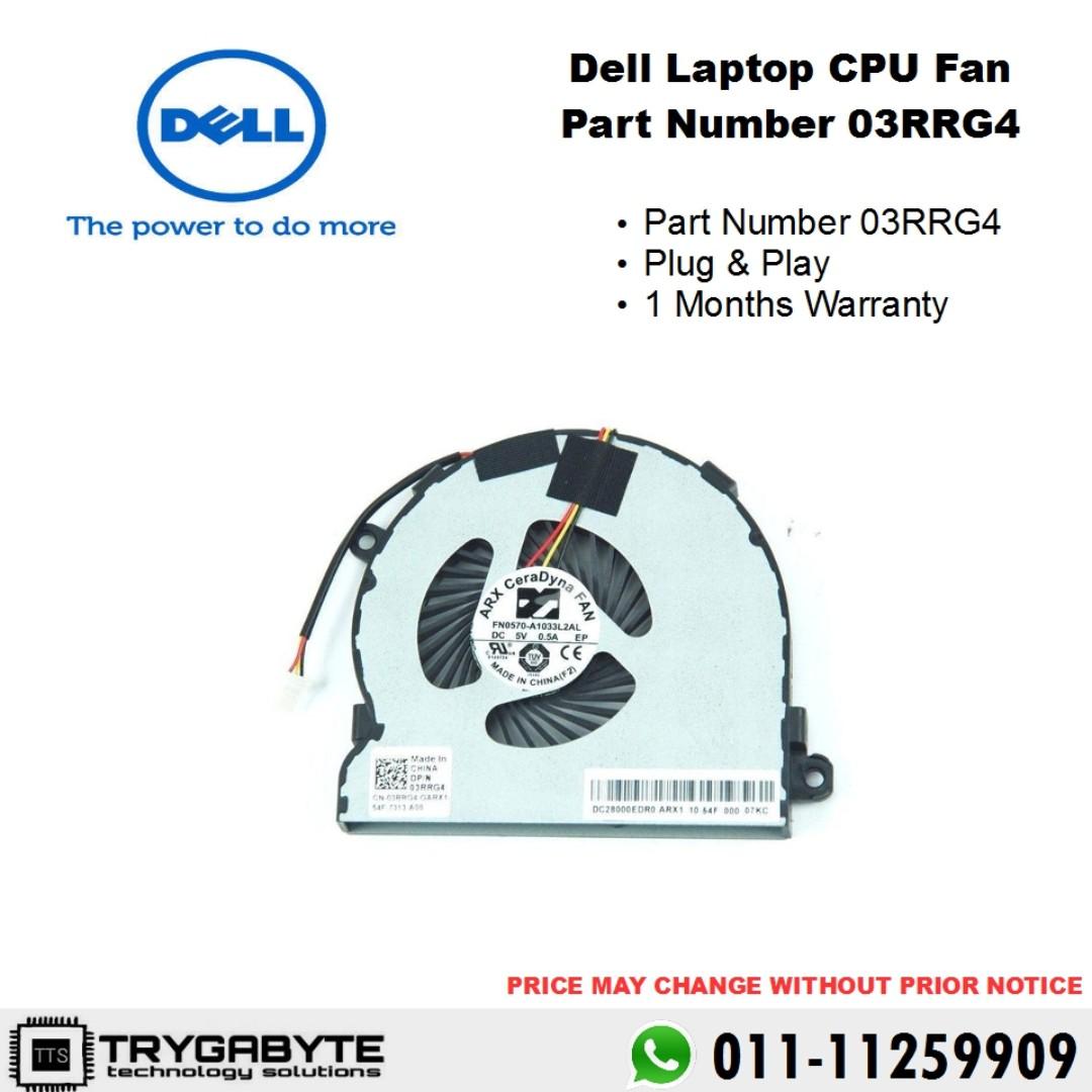 Laptop Dell Inspiron CPU Fan Part Number 03RRG4 / Laptop Overheat / Laptop  Fan Replacement / Laptop CPU GPU Fan / Internal Laptop Fan / Laptop Panas /