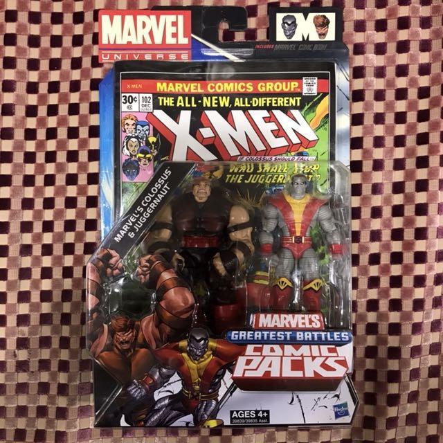 Marvel Universe: Colossus & Juggernaut Comic Pack, Toys