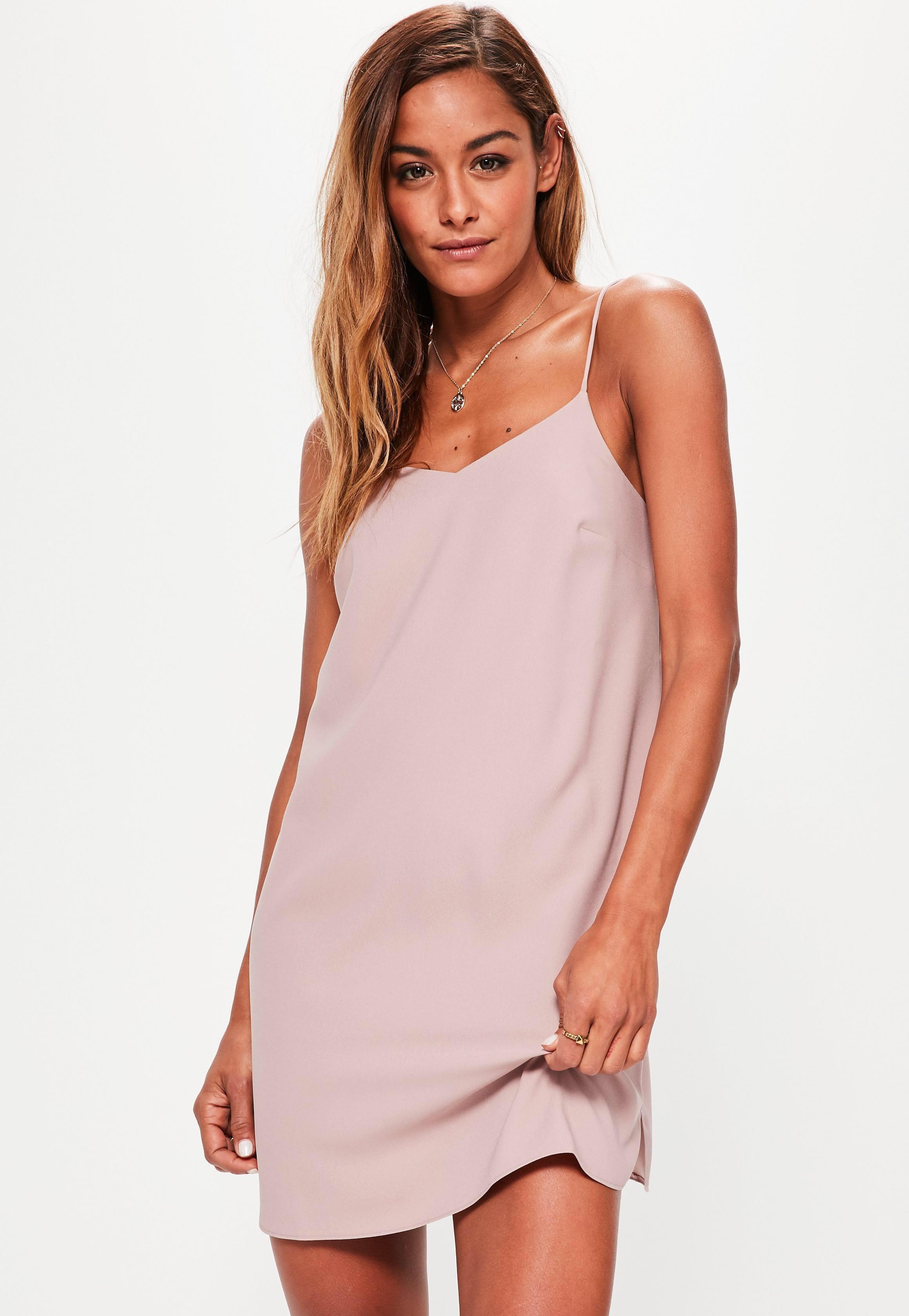 0dfccf5678 Missguided Petite Pink Crepe Shift Dress