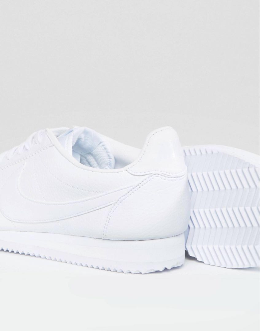 全新正品nike cortez 749571-111 阿甘鞋 復古 全白