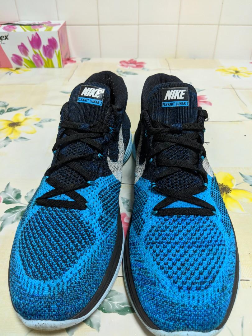 cb6eb8662ff Nike Flyknit Lunar 3 - Black White Blue Lagoon 698181 004