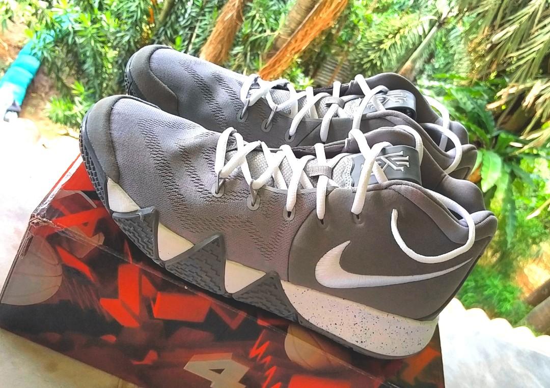 timeless design 48da1 8db02 Nike Kyrie 4 Grey/White, Men's Fashion, Footwear on Carousell