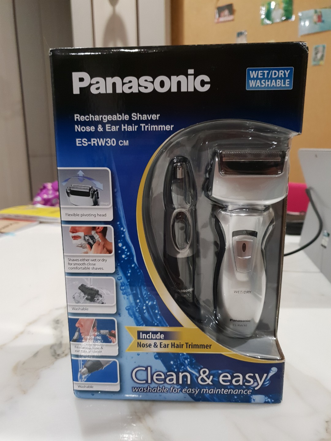 Panasonic rechargeable shaver + nose & ear hair trimmer