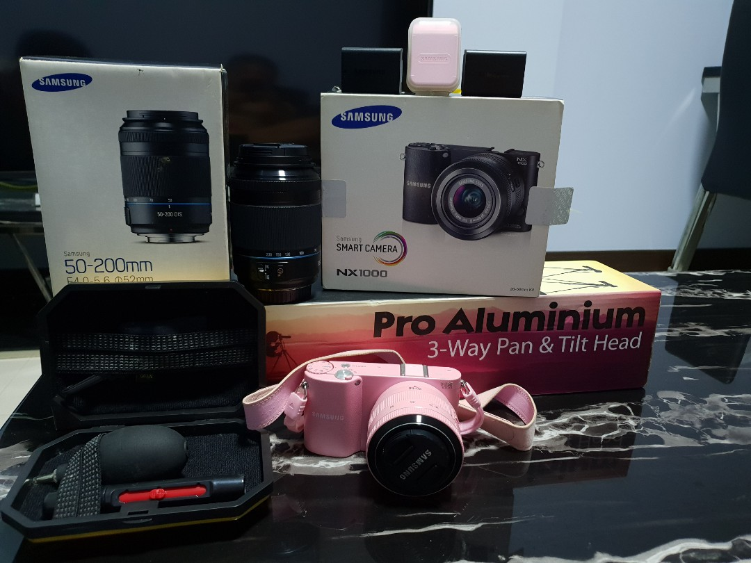 Pink Samsung NX1000 Camera for sales