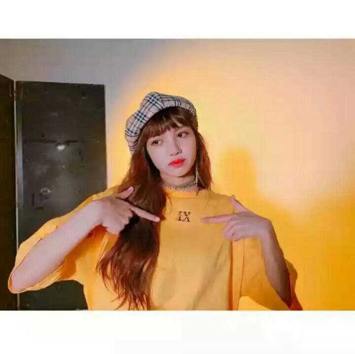 Po Blackpink Lisa Lx Yellow Top T Shirt Anh Apparel