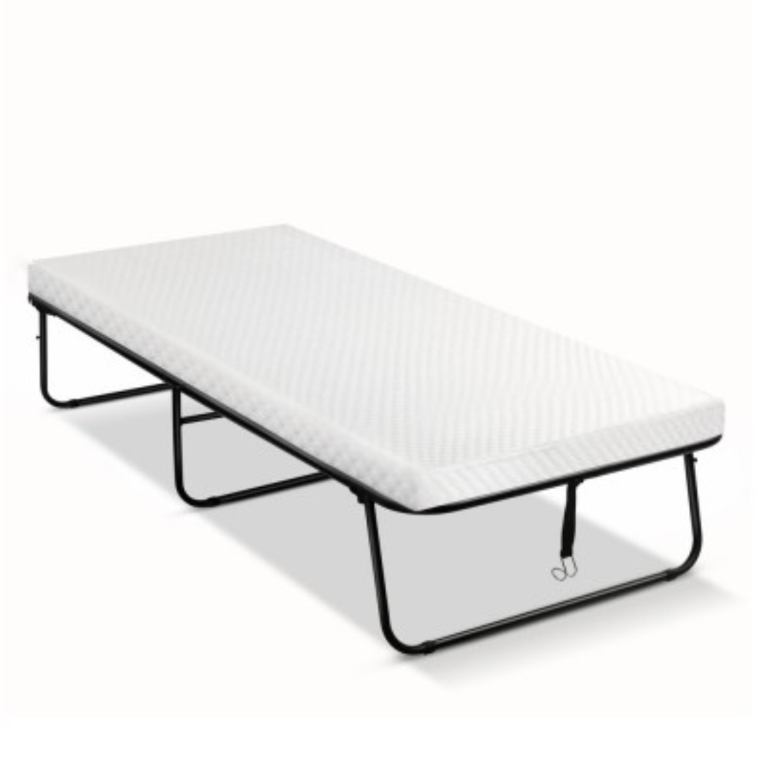 - Portable Folding Bed Foldable Guest Hotel Beds Single Mattress