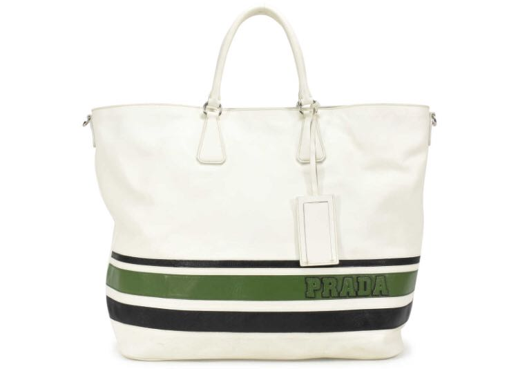 30c8a8d519c9 MUST SELL! Prada Striped Large Tote Bag