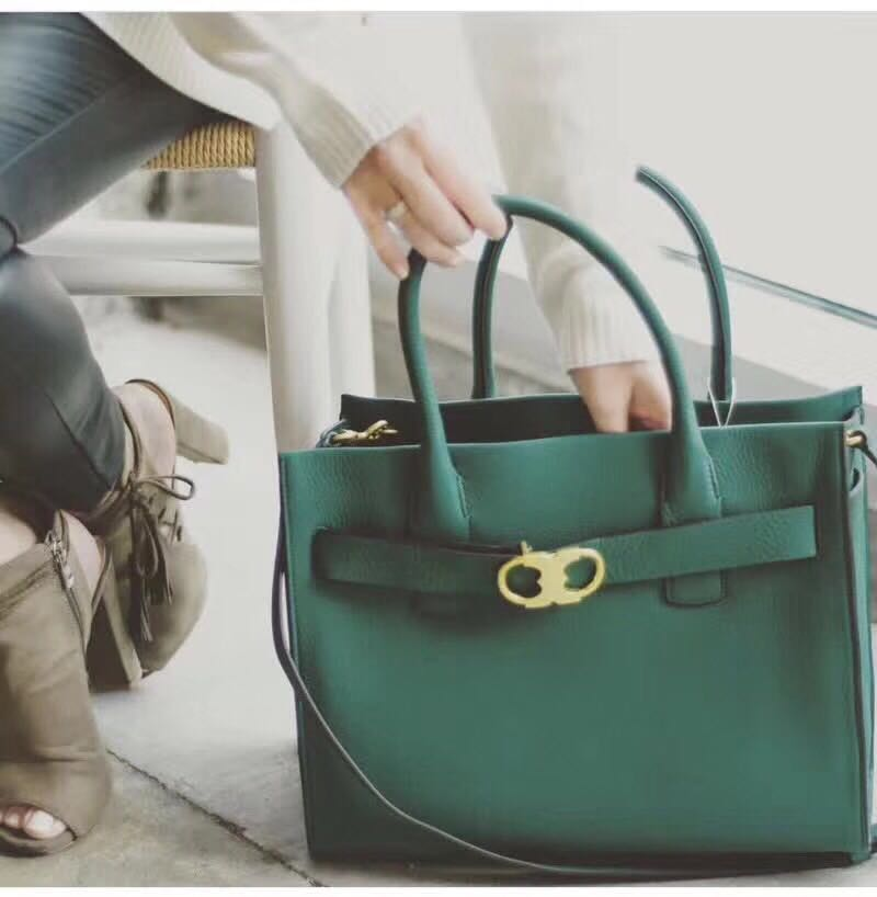 Preorder  Tory Burch Gemini Link Leather Tote Green