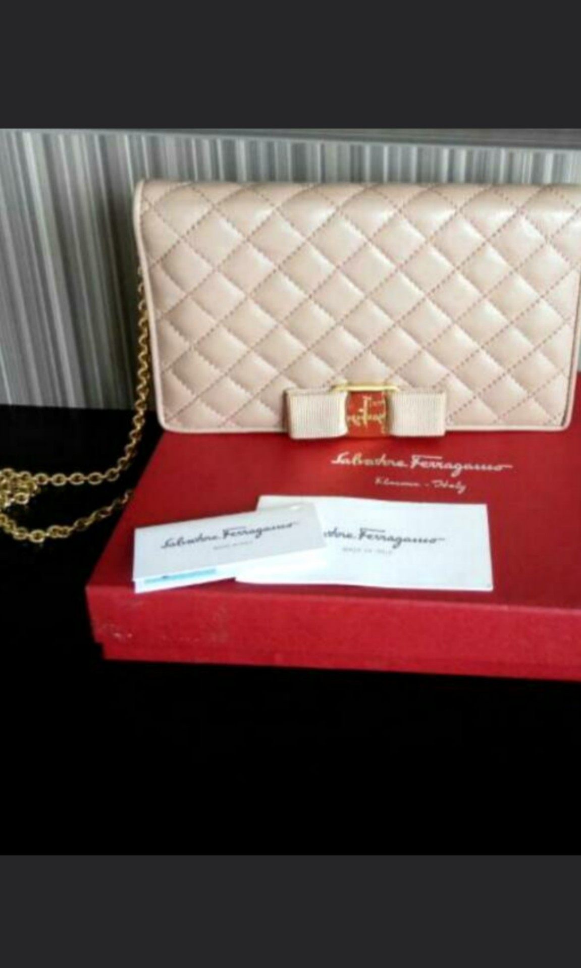 99dc7a15b636 Raya sale Authentic preloved Ferragamo wallet on chain  sling ...