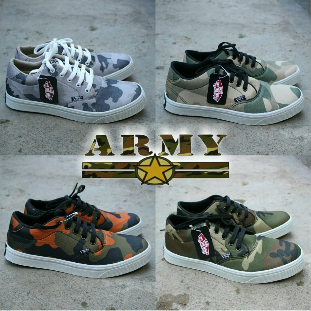 Sepatu army . Sepatu vans army murah free sarung tangan dan kaos ... eac9ba7cc5