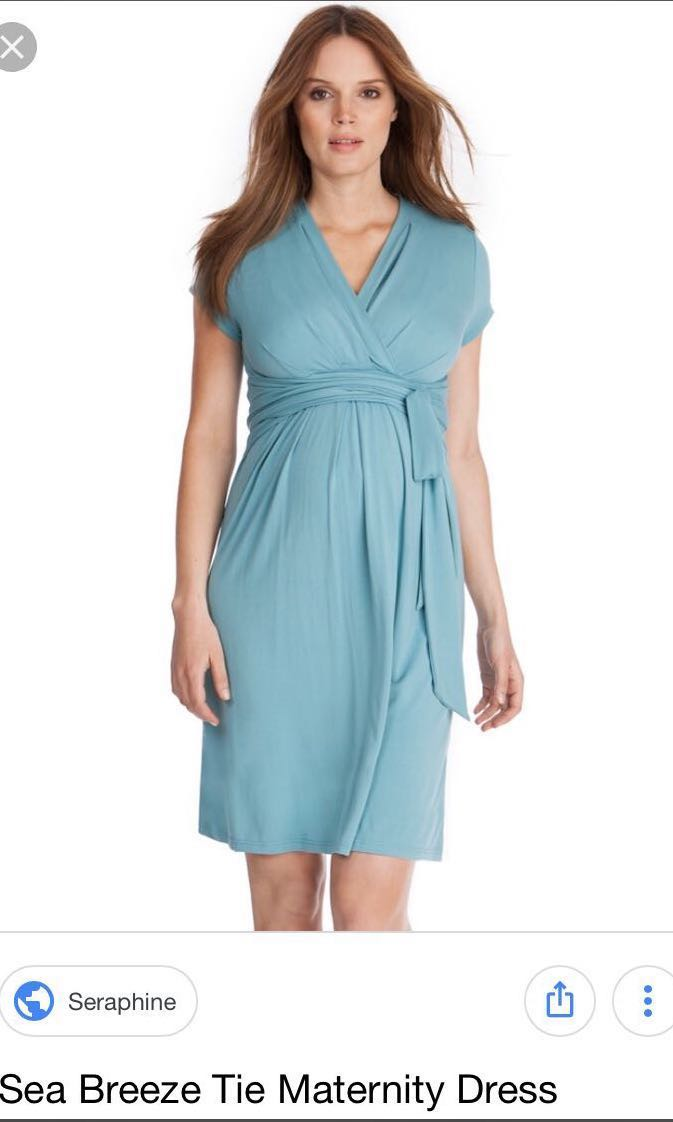 Seraphine Sea Breeze Tie Maternity Dress Brand New With Label Women S Fashion Clothes Dresses Skirts On Carousell