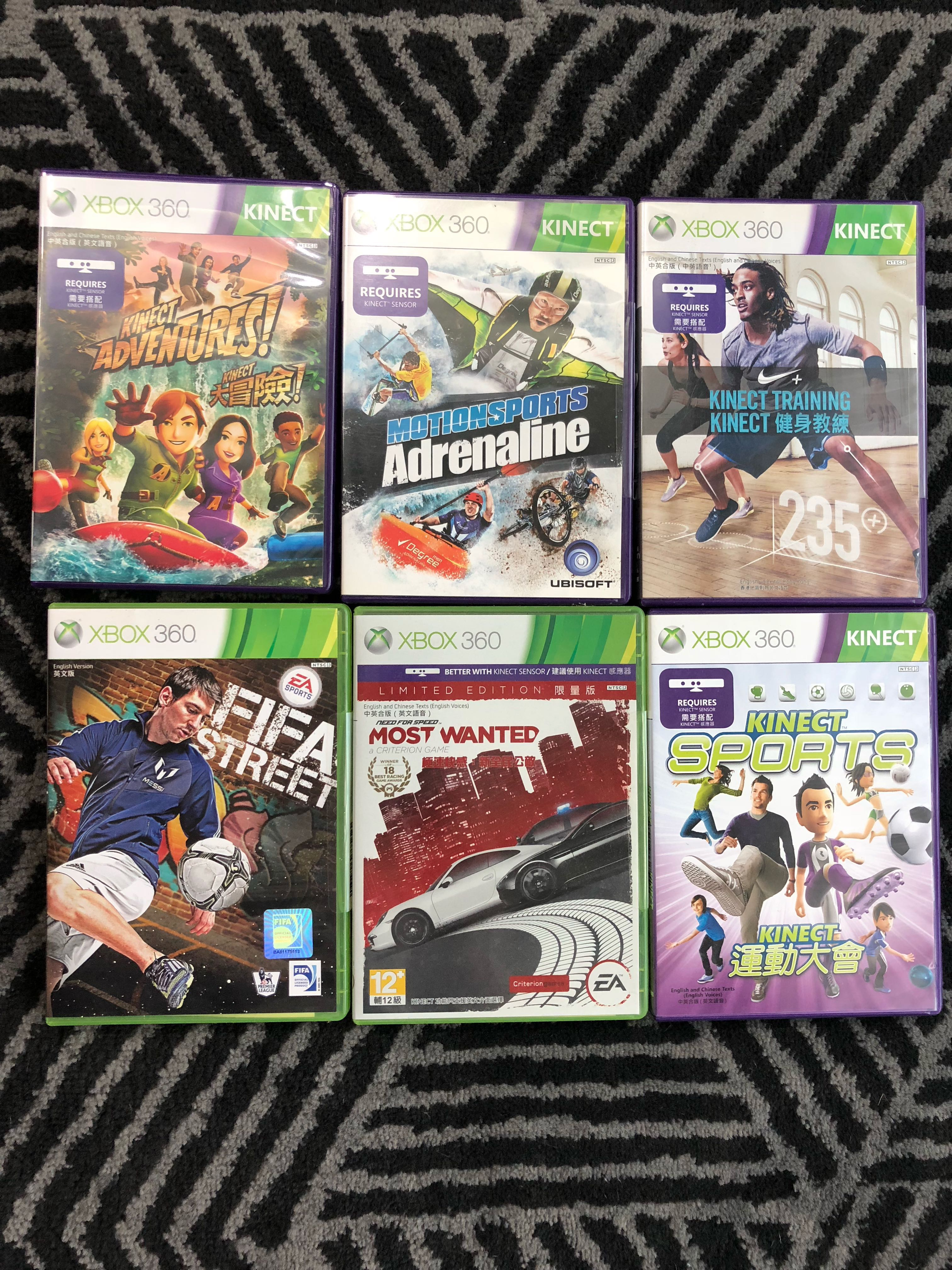 Xbox 360/ Kinect games, Toys & Games, Video Gaming, Video