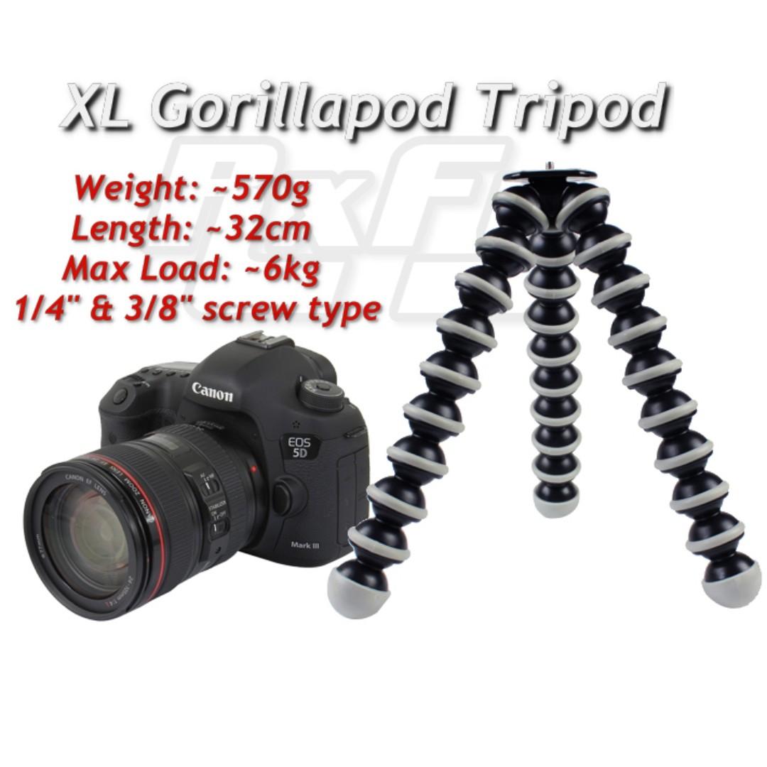 XL Camera Gorillapod  / Octopus Gorilla Tripod Stand joby holder DSLR Mirrorless Compact Digital Camera DV