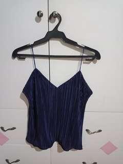 Dark Blue silk top