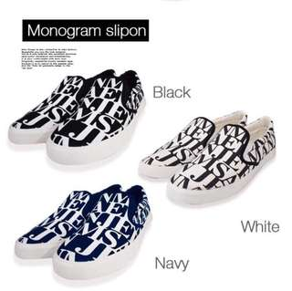 Japan monogram slipon