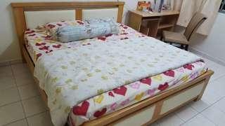 King size Bedframe + mattress