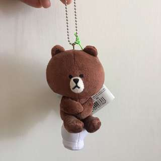 (包郵) *全新* Line Friends Brown Plush 熊大 公仔