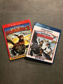 Dreamworks How To Train Your Dragon 1 and 2