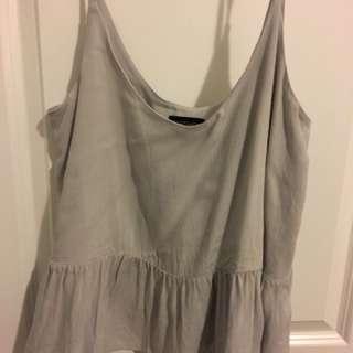 topshop peplum shirt