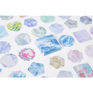 [ST] Boxed Stickers: Watercolour Marble