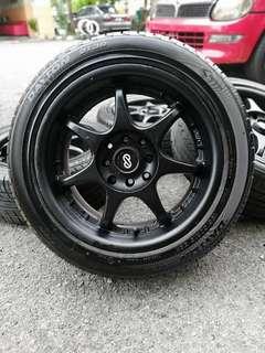 Enkei rs 15 inch sports rim saga flx tyre 80%. *seorang gadis bernama azura, confirm hari raya you bergaya!!! *
