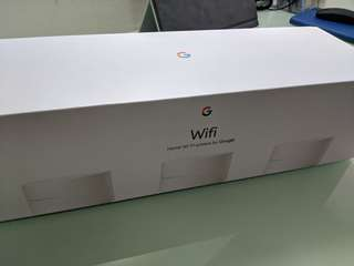 Google Wifi 三個裝 原裝盒
