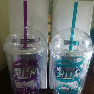 BLING TUMBLERS with straw included