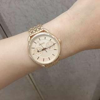 🇺🇸Fossil 玫瑰金二眼不鏽鋼腕錶⌚️
