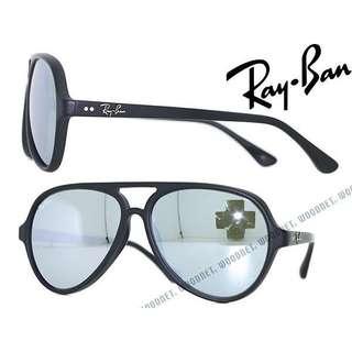 Ray Ban Cats 4125 水銀鏡 磨沙黑框