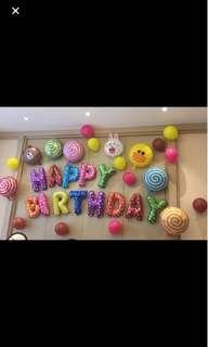 Happy Birthday Balloon Set Decoration