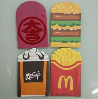Red Packet McDonald 4pcs/set