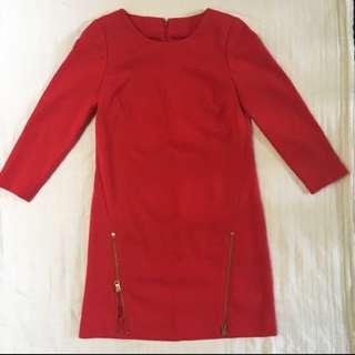 J crew Red Dress Size 00