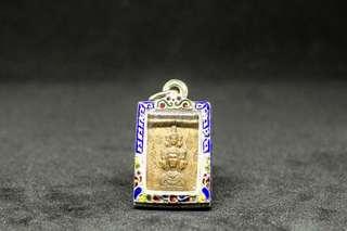 阿贊冠噴 2530 郵票型澤度金 符紋版   連保證卡