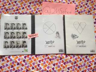 EXO XOXO FIRST SEALED ALBUM KISS & HUG VERSION with POSTER IN TUBE READY STOCK