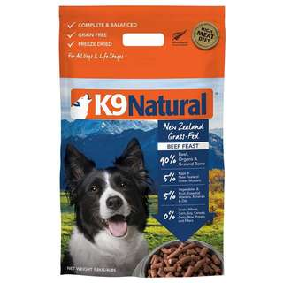 K9 Natural Freeze Dried Beef Feast, 1.8kg