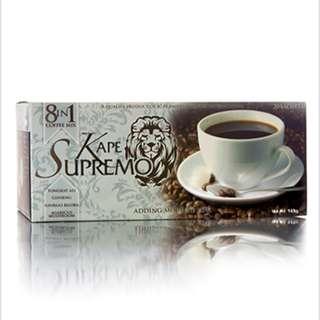 Kape Supremo 8 in 1 Coffee 20 Sachet