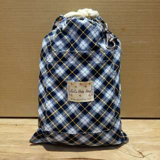 璐璐寶貝哺乳背巾/親密背巾/揹巾-英格藍藍格