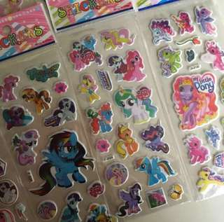 Pony puffy stickers
