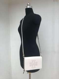皮包Tory Burch Beige leather bag. Brand new