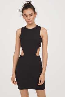 🚚 OshareGirl 05 歐美女士純色露腰露背S曲線連身裙洋裝