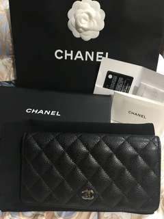 Chanel 長銀包(銀色扣)