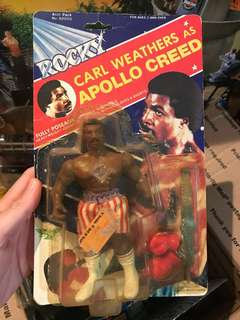 Rocky Apollo Creed Vintage toy figure 80s