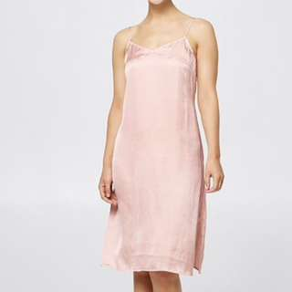NEW MIDI LIGHT PINK SLIP DRESS (Available in sizes 6-14)