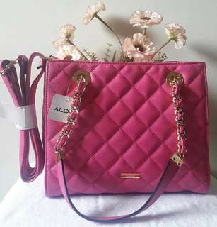 Brand new Aldo clearbrook quilted bag - pink