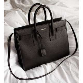 SAINT LAURENT SAC DE JOUR BLACK